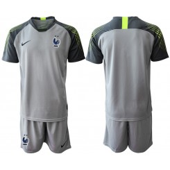 2019/20 France Gray Goalkeeper Authentic Soccer Jersey