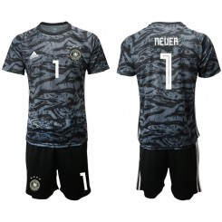 2019/20 Germany 1 NEUER Black Goalkeeper Authentic Soccer Jersey