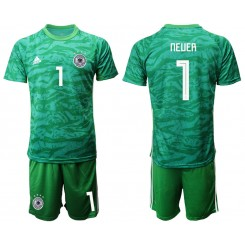 2019/20 Germany 1 NEUER Green Goalkeeper Authentic Soccer Jersey
