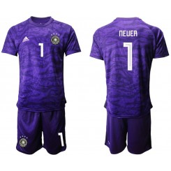 2019/20 Germany 1 NEUER Purple Goalkeeper Replica Soccer Jersey