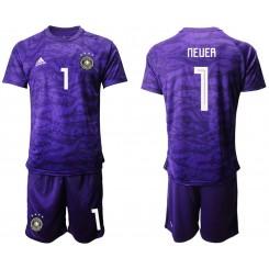 2019/20 Germany 1 NEUER Purple Goalkeeper Authentic Soccer Jersey