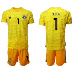 2019/20 Germany 1 NEUER Yellow Goalkeeper Authentic Soccer Jersey