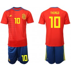 YOUTH 2019/20 Spain 10 THIAGO Home Authentic Soccer Jersey