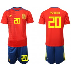 2019/20 Spain 20 ASENSIO Home Authentic Soccer Jersey