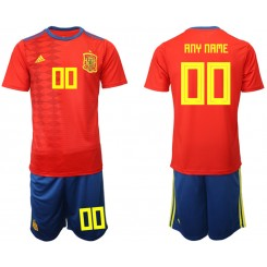 YOUTH 2019/20 Spain Customized Home Authentic Soccer Jersey