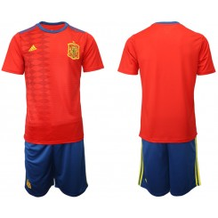 YOUTH 2019/20 Spain Home Authentic Soccer Jersey