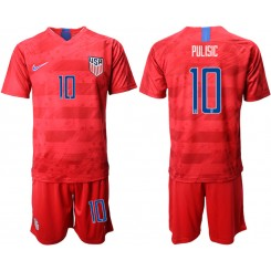 2019/20 USA 10 PULISIC Away Authentic Soccer Jersey