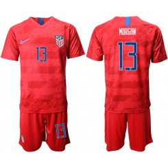 2019/20 USA 13 MORGAN Away Replica Soccer Jersey