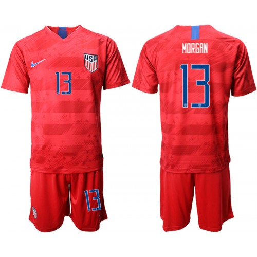 2019/20 USA 13 MORGAN Away Authentic Soccer Jersey