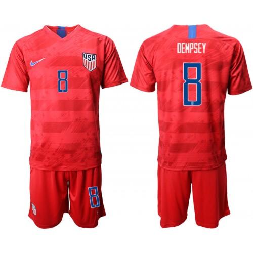 2019/20 USA 8 DEMPSEY Away Replica Soccer Jersey