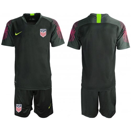 YOUTH 2019/20 USA Black Goalkeeper Authentic Soccer Jersey
