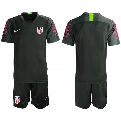 2019/20 USA Black Goalkeeper Replica Soccer Jersey