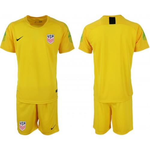 2019/20 USA Yellow Goalkeeper Replica Soccer Jersey