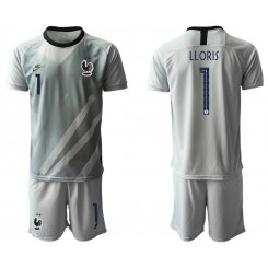 France 1 LLORIS Gray Goalkeeper UEFA Euro 2020 Authentic Soccer Jersey