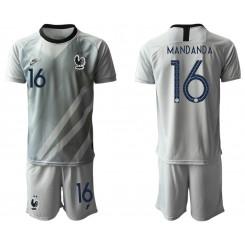 France 16 MANDANDA Gray Goalkeeper UEFA Euro 2020 Authentic Soccer Jersey