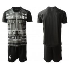 France Black Goalkeeper UEFA Euro 2020 Authentic Soccer Jersey