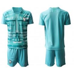 France Blue Goalkeeper UEFA Euro 2020 Authentic Soccer Jersey