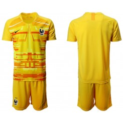 France Yellow Goalkeeper UEFA Euro 2020 Authentic Soccer Jersey