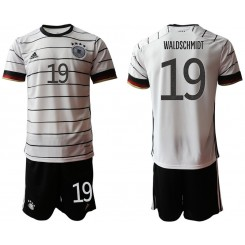 YOUTH Germany 19 WALDSCHMIDT Home UEFA Euro 2020 Authentic Soccer Jersey
