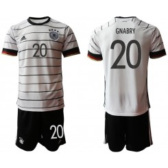 YOUTH Germany 20 GNABRY Home UEFA Euro 2020 Authentic Soccer Jersey