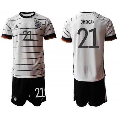YOUTH Germany 21 GUNDOGAN Home UEFA Euro 2020 Authentic Soccer Jersey