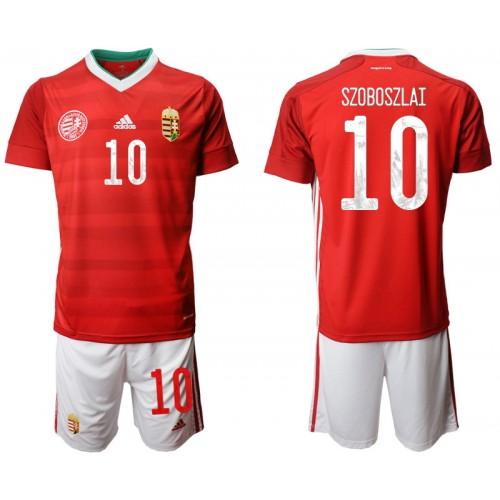 YOUTH Hungary 10 SZOBOSZLAI Home UEFA Euro 2020 Replica Soccer Jersey