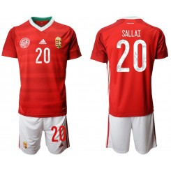 YOUTH Hungary 20 SALLAI Home UEFA Euro 2020 Replica Soccer Jersey