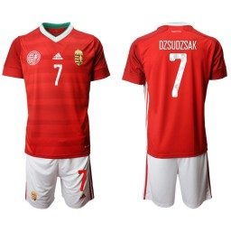 YOUTH Hungary 7 DZSUDZSAK Home UEFA Euro 2020 Authentic Soccer Jersey
