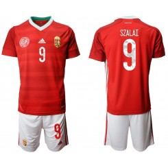 YOUTH Hungary 9 SZALAI Home UEFA Euro 2020 Replica Soccer Jersey