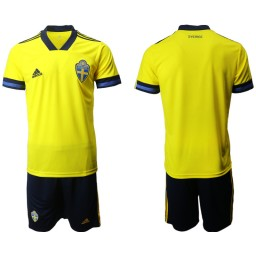 YOUTH Sweden Home UEFA Euro 2020 Authentic Soccer Jersey