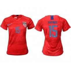 USA National Soccer Women's Jersey Red Away #15 2019 World Cup