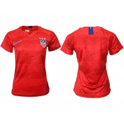 USA National Soccer Women's Jersey Red Away 2019 World Cup
