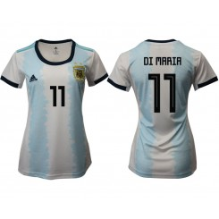 Argentina National Soccer Women's Jersey White Home #11 2019 World Cup