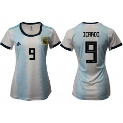 Argentina National Soccer Women's Jersey White Home #9 2019 World Cup