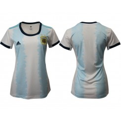 Argentina National Soccer Women's Jersey White Home 2019 World Cup