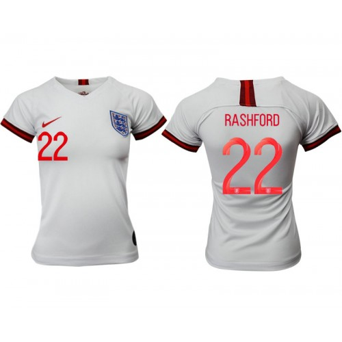 England National Soccer Women's Jersey White Home #22 2019 World Cup