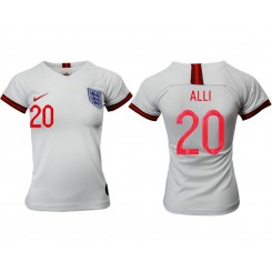England National Soccer Women's Jersey White Home #20 2019 World Cup