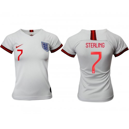 England National Soccer Women's Jersey White Home #7 2019 World Cup