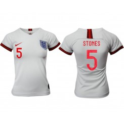 England National Soccer Women's Jersey White Home #5 2019 World Cup