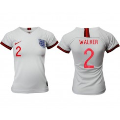 England National Soccer Women's Jersey White Home #2 2019 World Cup