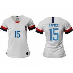 USA National Soccer Women's Jersey White Home #15 2019 World Cup
