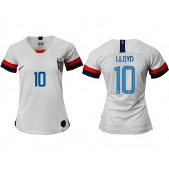 USA National Soccer Women's Jersey White Home #10 2019 World Cup