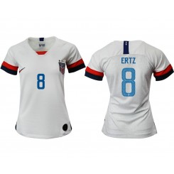 USA National Soccer Women's Jersey White Home #8 2019 World Cup