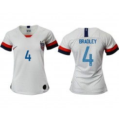 USA National Soccer Women's Jersey White Home #4 2019 World Cup