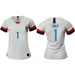 USA National Soccer Women's Jersey White Home #1 2019 World Cup