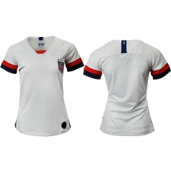 USA National Soccer Women's Jersey White Home 2019 World Cup