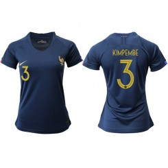 France National Soccer Women's Jersey Navy Home #3 2019 World Cup