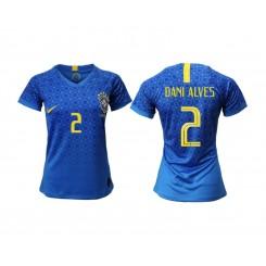 Brazil National Soccer Women's Jersey Blue Away #2 2019 World Cup