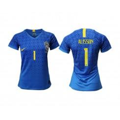 Brazil National Soccer Women's Jersey Blue Away #1 2019 World Cup