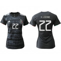 Mexico National Soccer Women's Jersey Black Home #22 2019 World Cup